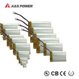 Bateria recarregável Lipo do Li-Polímero do polímero do lítio do UL 381018 3.7V 40mAh