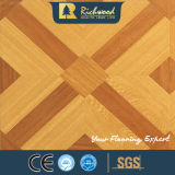 Do parquet V-Grooved do carvalho do bordo da cereja revestimento impermeável de Laminbated