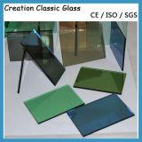 glace r3fléchissante verte en verre r3fléchissante bleue en verre r3fléchissante en bronze de 4-8mm