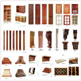 N&L festes Holz-Walnuss-Küche-Schrank in der guten Qualität