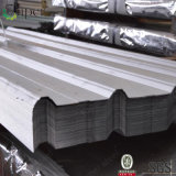 Feuille en acier enduite d'une première couche de peinture ondulée de toiture en métal