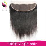 Reales Menschenhaar Remy brasilianisches Haar-gerades Spitze-Stirnbein-Schliessen