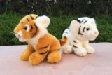 아이들을%s 견면 벨벳에 의하여 채워지는 호랑이 동물성 장난감 같이 실제
