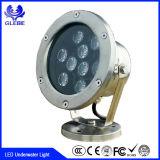 indicatore luminoso subacqueo decorativo impermeabile di RGB IP68 LED di illuminazione del raggruppamento della fabbrica di 9W Shenzhen