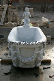 Witte Ton MT-017 van het Bad van het Beeldhouwwerk van de Steen van Carrara Marmeren