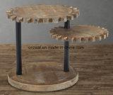 Mesa de centro de madeira rústica recuperada antiguidade, mesa de centro industrial na madeira rústica