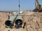 Broad Diameter Fiberglass gold FRP Sand Pipes