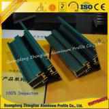 Powder Coating ou grain de bois Extrusion Profil Fenêtre Aluminium et Porte