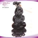 Federal Express que envia o cabelo peruano do Virgin da onda chinesa do corpo dos pacotes do cabelo dos fornecedores por atacado