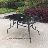 정원 가구 장방형 강화 유리 테이블