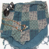 Boho Dreieck-Schal, europäischer Art-Schal, drei Schichten Schal-Form-Zusatzgeräten-