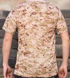 Camiseta corta 100% de Camo de la funda del algodón al aire libre