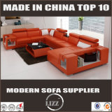 أثاث لازم حديث بيتيّة يثبت يعيش غرفة جلد أريكة [أو] شكل تصميم