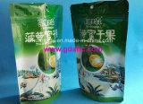 Levantarse el bolso de aluminio del alimento de la bolsa de plástico