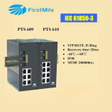 Gigabit Advanced Managed Industrial Ethernet Switch com portas 3G