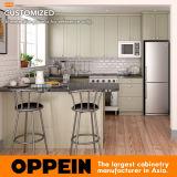 Oppeinの米国式の白い木製のシェーカーのキャビネット小さいU字型PVC食器棚(OP17-PVC06)