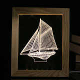 北欧様式によってLED 3Dは装飾の写真フレームが家へ帰る