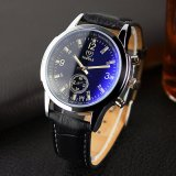 295 heißer Verkaufs-reale kleine Vorwahlknopf-analoge Uhr-Schwarz-weiße Mann-Uhr