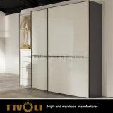 床からの天井Tivo-0004hwへの白い絵画デザインの高く狭いワードローブ