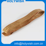 형식 황금 금속 철사를 가진 주문 결박 선물 리본