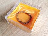 腕時計または宝石類のための推薦された工場卸売のゆとりプラスチック透過ボックス