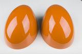 真新しいABS小型たる製造人R56-R61のための高品質カーボンミラーカバーとのプラスチック紫外線保護されたスポーティな様式オレンジカラー