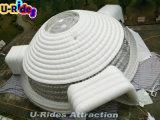 barraca leve inflável branca grande redonda do diodo emissor de luz para a mostra ou salão com a porta três