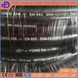 Pollice idraulico Braided dell'en 853 2sn 1/2 del tubo flessibile del filo di acciaio