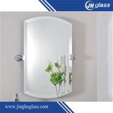 Miroir libre de cuivre moderne fixé au mur de salle de bains de l'ovale 3-6mm