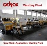 De geautomatiseerde Lijn van de Was van het Recycling van de Fles van het Huisdier Plastic