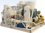 NGV de alta presión que reaprovisiona la estación de combustible estándar