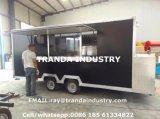 Bonne remorque mobile respectueuse de l'environnement de nourriture de jus de hot-dog de rue de la Chine