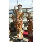 Het witte Marmeren Standbeeld/het Beeldhouwwerk van de Vrouw van de Kunst van de Steen Snijdende