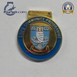 Идущее медаль с эмалью отделки Gunmetal мягкой