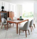 Stevig Hout met Marmeren Eettafel (Nieuw ontwerp)