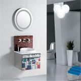Vanité en acier de salle de bains de bassin en céramique fixé au mur neuf