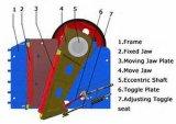 Hohe Leistungsfähigkeits-Kiefer-Zerkleinerungsmaschine für die Eisenerz-Zerquetschung
