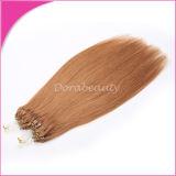 Extensão indiana do cabelo do anel do cabelo humano de Remy micro