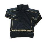 Trui Hoody van het Rugby van de sublimatie de Zwarte voor Perth-Bayswater