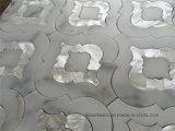 Azulejo Mosaico de jato de água mista Calacatta Gold White Marble Mixed Shell