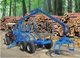 Crane를 가진 높은 Quality Log Loading Trailer (ZQ5004)