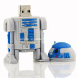 Lecteur flash USB de PVC de robot de dessin animé de Star Wars USB Pendrive
