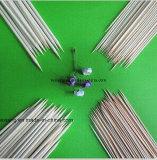 Tamanhos diferentes de broche de bambu e bastão de churrasco
