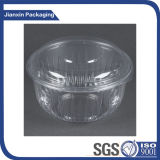 Envase redondo plástico disponible del rectángulo con la cubierta