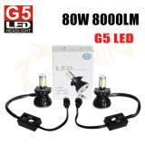 Farol H4 do diodo emissor de luz do carro da energia 80W 8000lm da economia do poder superior G5