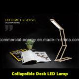 Lâmpada elevada portátil do diodo emissor de luz da mesa da tabela do lúmen da dobradura recarregável