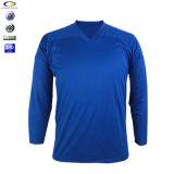Plein T-shirt 100% de cou du créateur V de main de polyester