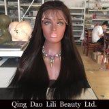 Людской белокурый тип Silk верхние полные парики объемной волны волос Remy шнурка