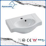 Da mão cerâmica da bacia do gabinete do banheiro dissipador de lavagem Semi-Recessed (ACB4360)