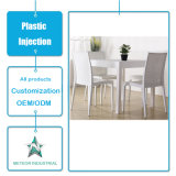 Tabela da mobília do jardim dos produtos da injeção plástica e jogo plásticos moldando personalizados da cadeira